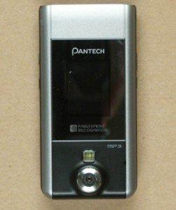 Pantech PG-6200, con lector de huellas digitales