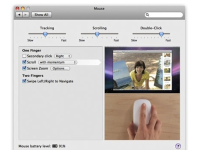 Activar desplazamiento con impulso en Leopard para el Magic Mouse