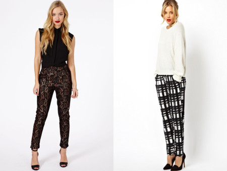 Tendencias low-cost Primavera-Verano 2014 pantalones estampados cuadros blanco y negro Asos