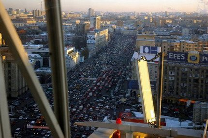Trafico en Rusia Moscú