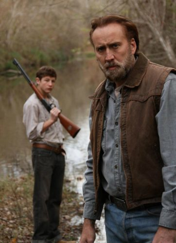Tye Sheridan y Nicolas Cage en Joe