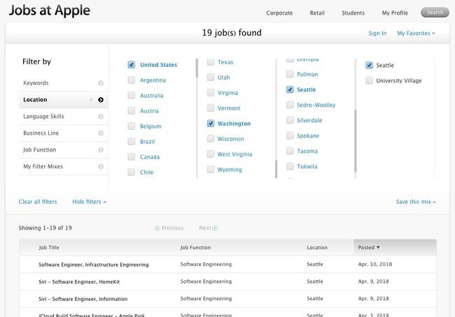 Apple Empleo Seattle