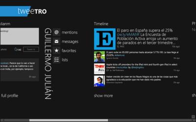 Tweetro para Windows 8, ahogada por el límite de usuarios de Twitter