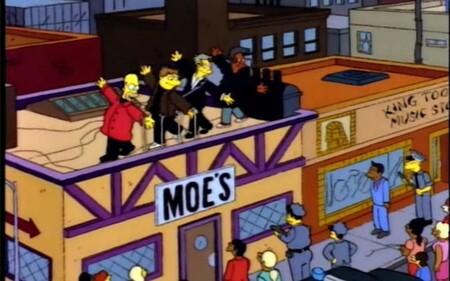 Los Simpson parodiando a los Beatles