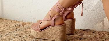El calzado de yute y rafia (de firmas como Stradivarius y Zara) vestirá nuestros pies durante los meses de primavera-verano