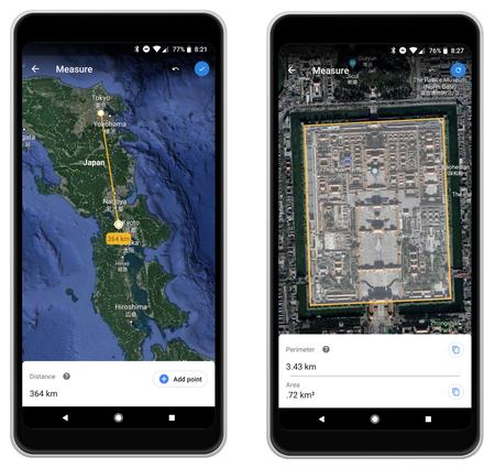 Cómo medir distancias y áreas con la nueva herramienta de Google Earth para Android