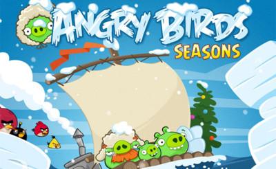 Angry Birds Seasons para Android recibe 25 nuevos niveles muy helados
