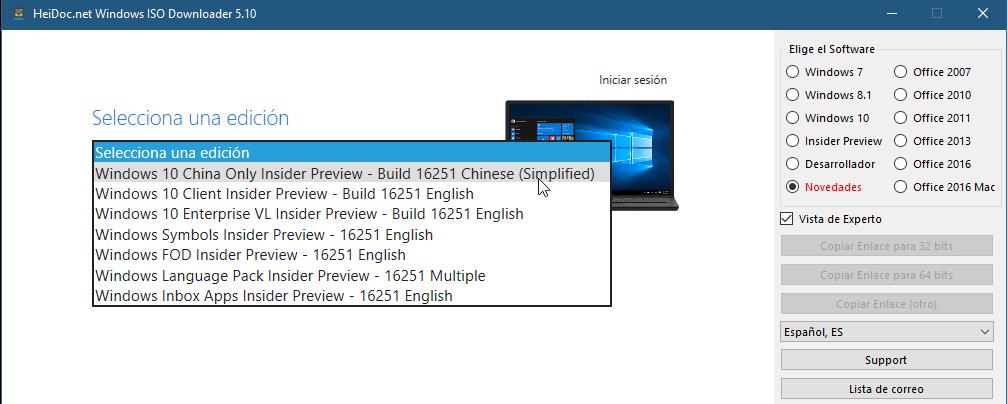 Como descargar todas las ISO de Windows y Office 6