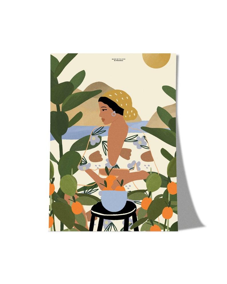 The Orange Girl, Tamaño A4