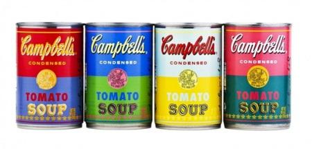 Edición aniversario de las latas de sopa Campbell de Andy Warhol