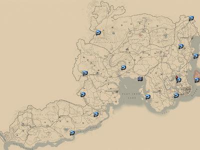 Guía Red Dead Redemption 2: mapa y vídeo para encontrar todos los peces legendarios