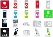 Iconos de los nuevos iPods 2006