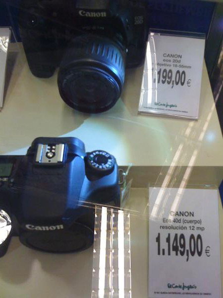 Fotografía en El Corte Inglés