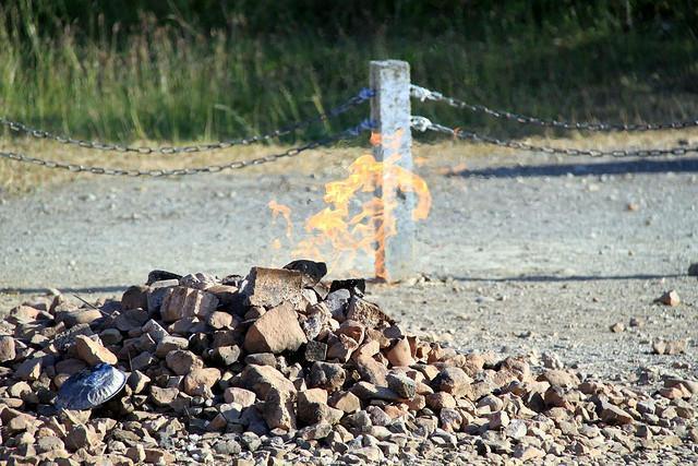Gas natural ardiendo