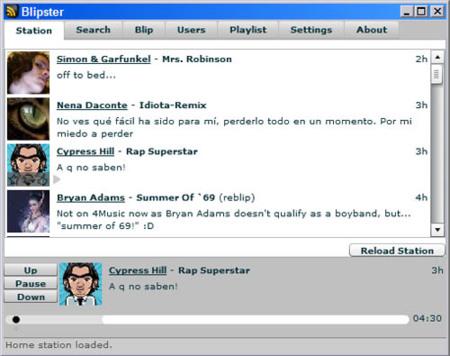 Blipster, Blip.fm en tu escritorio mediante Adobe AIR