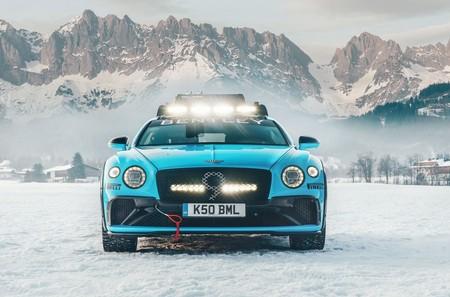 Este Bentley Continental GT preparado con 626 CV tirará del esquiador Sven Rauber en una de las pruebas más arriesgadas del mundo
