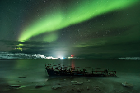 Aurora Borealis On The Coast Of The Barents Sea C Michael Zav Yalov