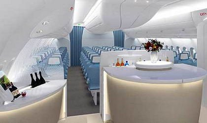 Interior del Airbus A350 diseñado por BMW