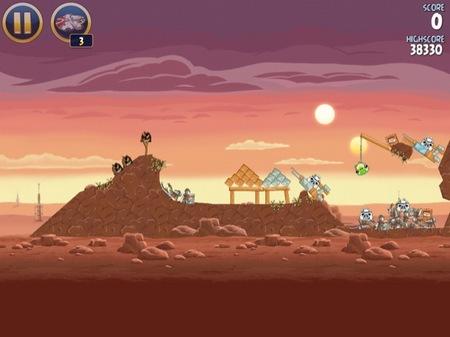 Angry Birds para iPad en versión guerra de las galaxias (star wars) para vencer a las tropas imperiales
