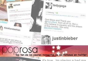 Top ten: los peores momentos de los famosos en Twitter
