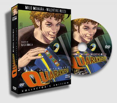 Rossi presenta su película de dibujos en Mugello
