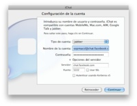 Como añadir el chat de Facebook a iChat