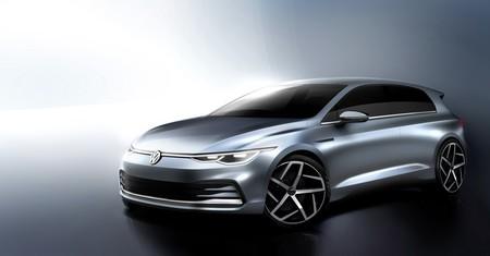 El Volkswagen Golf 2020 se insinúa en cuatro bocetos oficiales