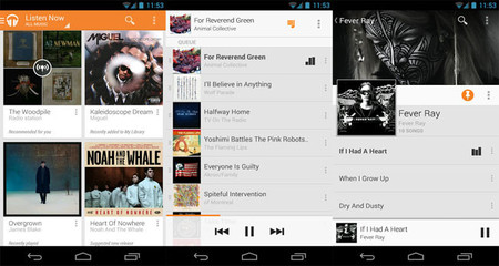 Google Play Music Tablet