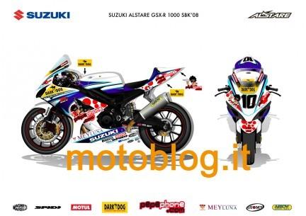 Por fin se desvela el misterio de la decoración de la Suzuki GSX-R del Team Alstare