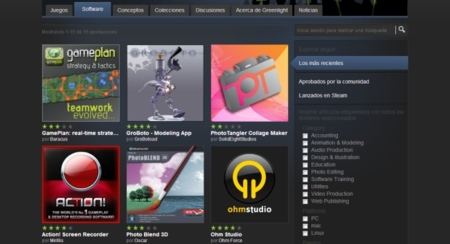 Steam empieza a aceptar software y conceptos en Greenlight