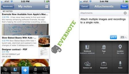Nueva versión de Evernote para el iPhone