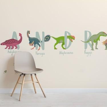 Papeles pintados con dinosaurios. Tus peques los querrán tener sí o sí