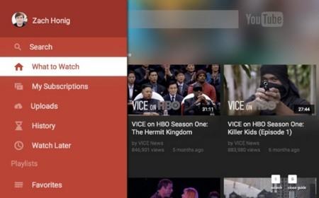YouTube rediseña su aplicación para smart TV
