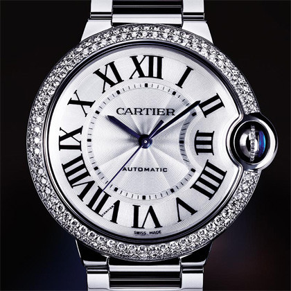 Cartier Ballon Bleu - Oro Blanco y Diamantes