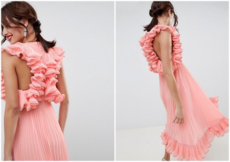 Vestido Plisado Invitada Rebajas Asos