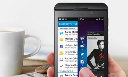 Blackberry por gestos