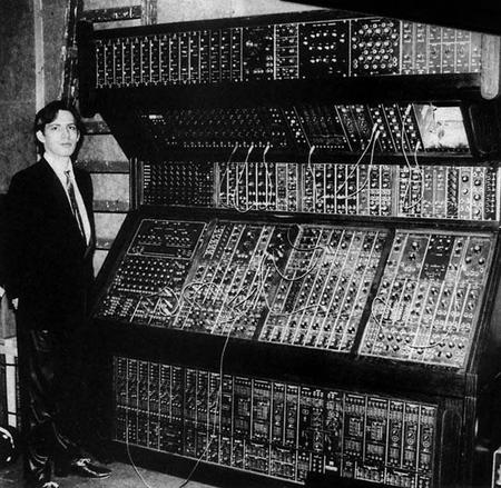 Hans Zimmer And A Moog Synthesizer, 1970