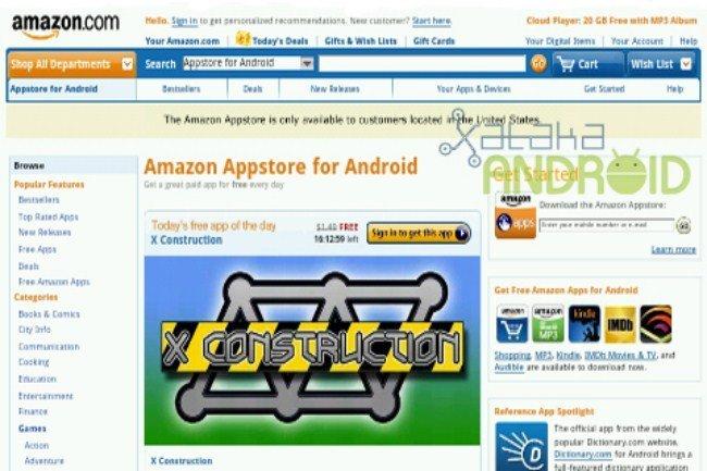 Screen de la AppStore de Amazon