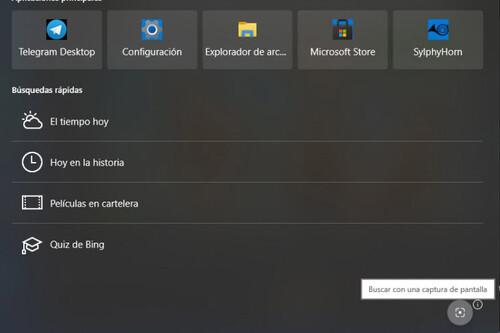Windows 10 esconde maravillas como esta: una función para buscar en la red usando nuestras propias capturas de pantalla