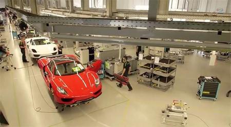 La línea de producción del Porsche 918 Spyder
