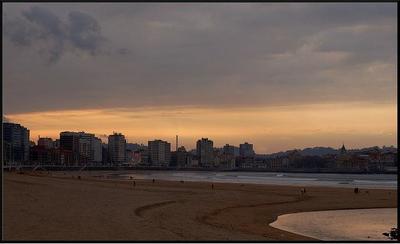 Las playas de Gijón
