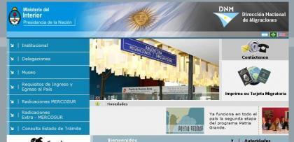 Viaje a la Argentina: tarjeta de migraciones por Internet