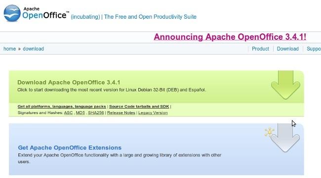Apache OpenOffice saca su segunda versión y se prepara los planes de futuro
