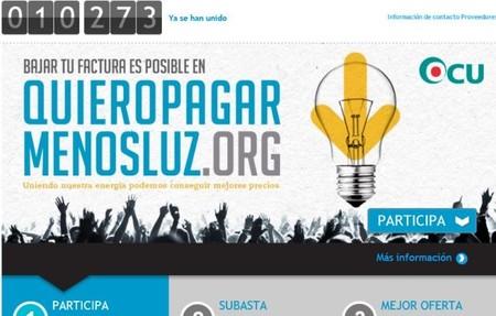 """La OCU crea una plataforma de compra colectiva: """"Quiero pagar menos luz"""""""