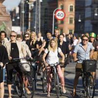 Las mañanas de tráfico en Copenhague son muy distintas a lo que sucede en otros países