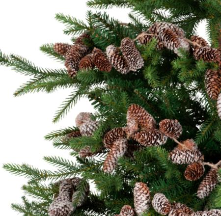 Guirnalda De Navidad De Pinas Blancas