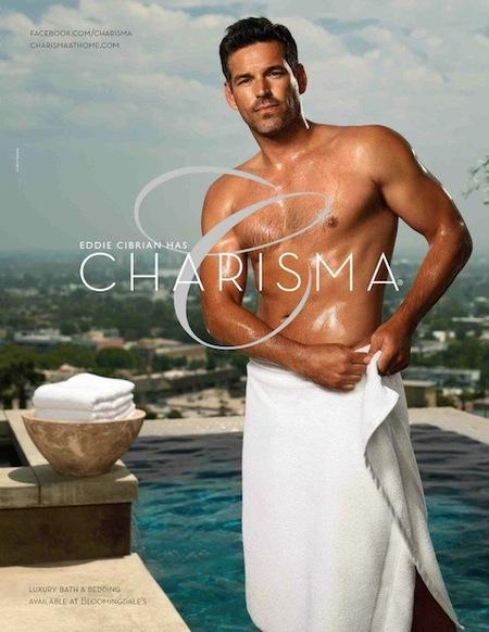 ¿Quién se fija en las sábanas teniendo a Eddie Cibrian casi en pelota picada?