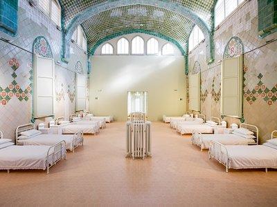 El Pabellón de Sant Rafael del Recinto Modernista de Sant Pau se convierte en una sala de pacientes de los años 20
