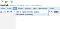 Google Docs añade la opción de ver los documentos con un ancho fijo