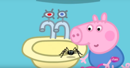 """Australia prohíbe el episodio de Peppa Pig """"Las arañas no pueden hacerte daño"""" porque allí pueden matarte"""